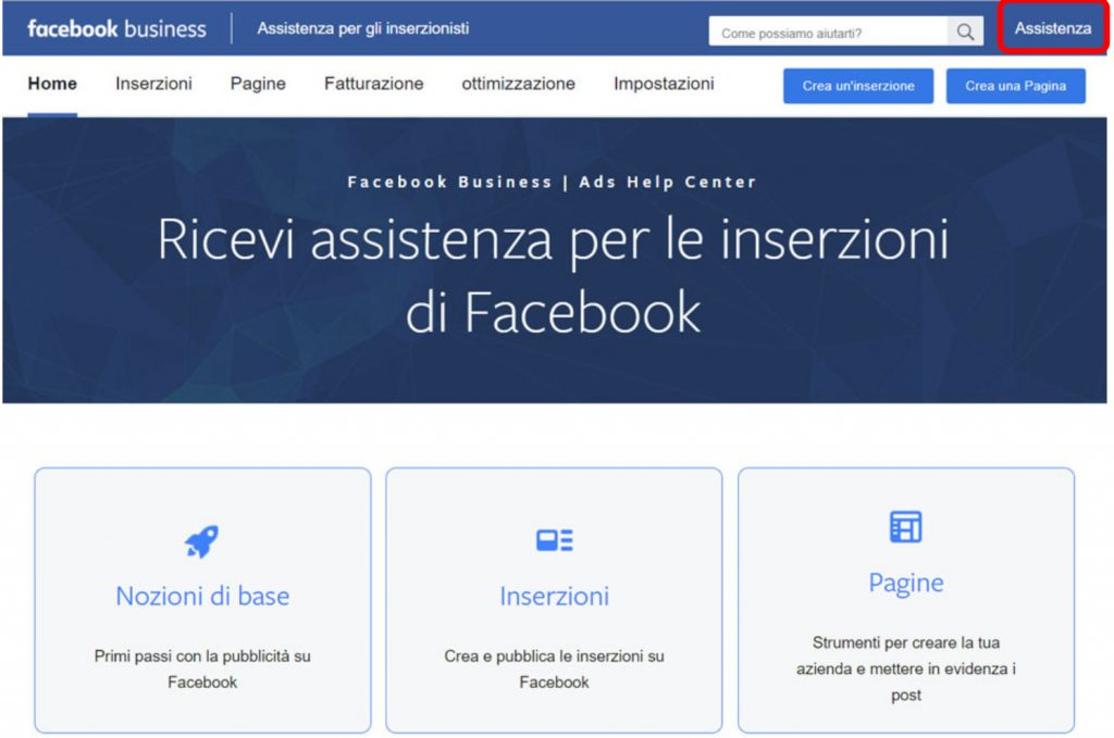 assistenza facebook chat