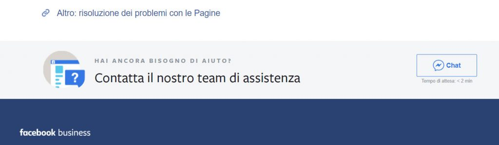 assistenza facebook chat operatore
