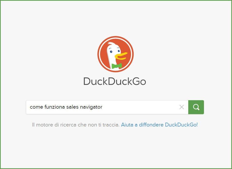 duck duck go cose motore ricerca privacy