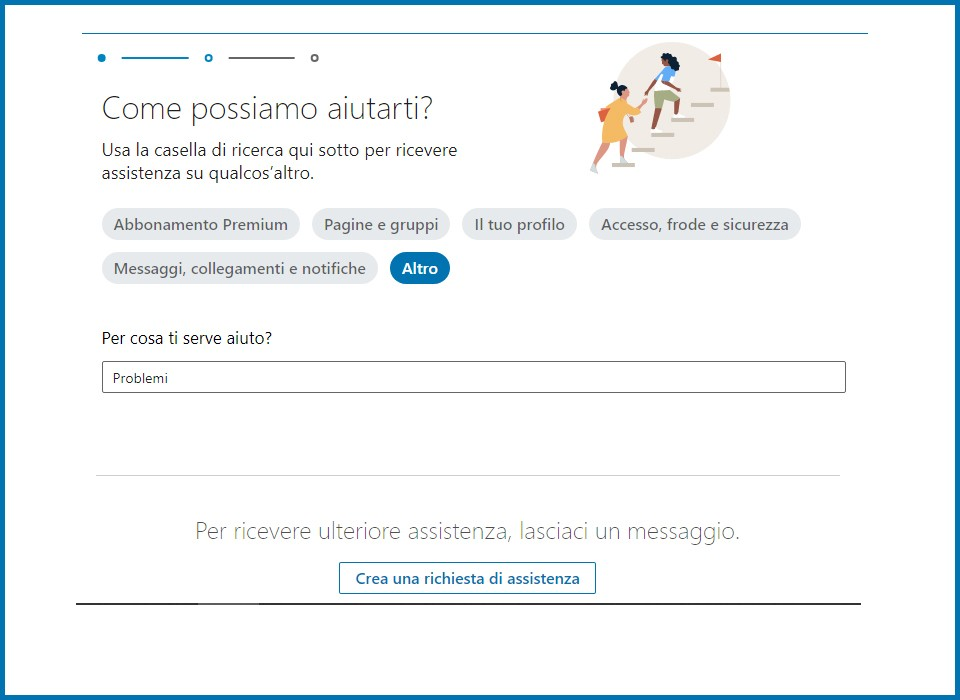 assistenza linkedin chat online